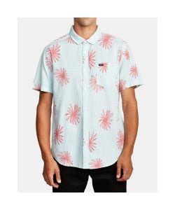Rvca Whirls Coral Pink Men's Shirt