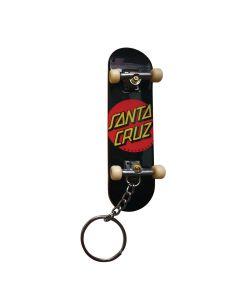 Santa Cruz Classic Dot Fingerboard Black Key Chain