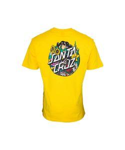 Santa Cruz Dressen Pup Dot Blazing Yellow Ανδρικό T-Shirt