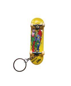 Santa Cruz Slasher Fingerboard Yellow Key Chain