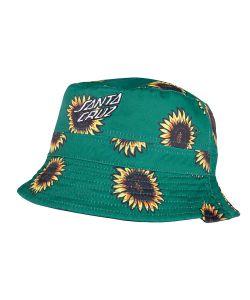 Santa Cruz Sunflowers Bucket Black Sunflower Print Καπέλο