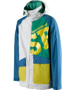 SPECIAL BLEND BEACON INSULATED OXYCOTTON DRINK IT BLUE HYDRATE YELLOW SNOW JACKET