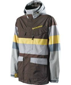 SPECIAL BLEND CIRCA STEEL RESERVE FADED OUT STRIPE SNOW JACKET