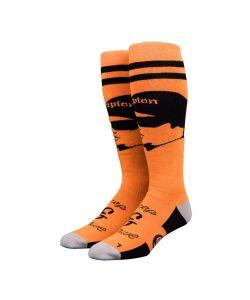Stinky Socks  Creep & Craw Orange Black Snow Socks