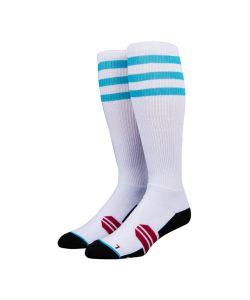 Stinky Three Stripes White/Blue Snow Socks