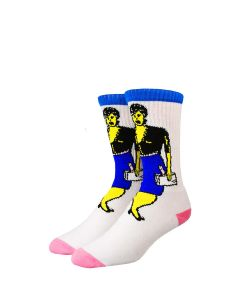 Stinky x Pastedko White Blue Pink Socks