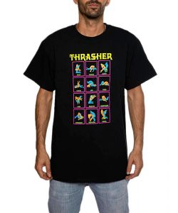 THRASHER BLACK LIGHT BLACK T-SHIRT