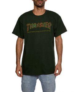 THRASHER DAVIS FOREST GREEN T-SHIRT
