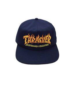 Thrasher Fire Logo Navy Blue Καπέλο