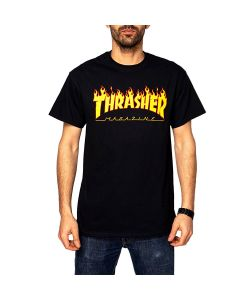 Thrasher Flame Black Men's T-Shirt