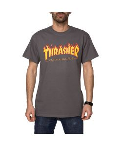 Thrasher Flame Charcoal Men's T-Shirt