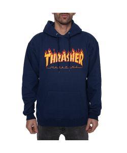 Thrasher Flame Navy Ανδρικό Φούτερ Κουκούλα