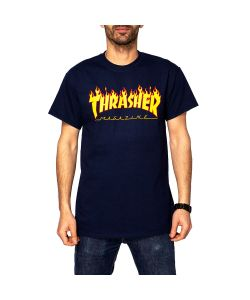 Thrasher Flame Navy Men's T-Shirt