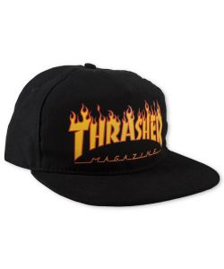 Thrasher Flame Snapback Black Ηατ