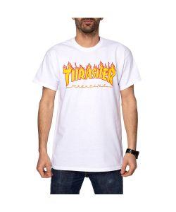 Thrasher Flame White Men's T-Shirt