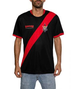 Thrasher Football Jersey Black/Red Men's T-Shirt