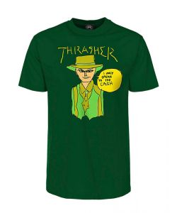 THRASHER GONZ CASH FOREST GREEN T-SHIRT