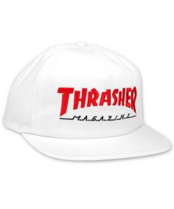 Thrasher Mag Logo 2 Tone White Red  Ηατ