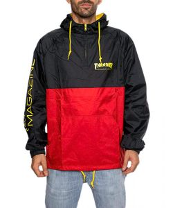 THRASHER MAG LOGO ANORAK BLACK RED