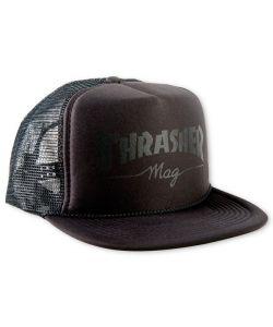 Thrasher Mag Logo Mesh Trucker Black Black Καπέλο