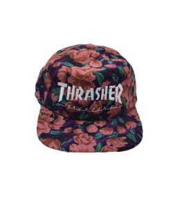 Thrasher Mag Logo Pink Floral Καπέλο