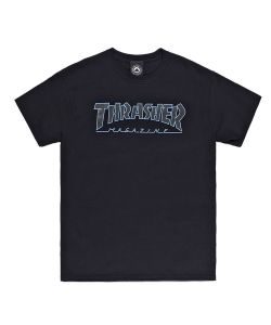 Thrasher Outlined Black Black Ανδρικό T-Shirt