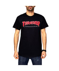 Thrasher Outlined Black Men's T-Shirt