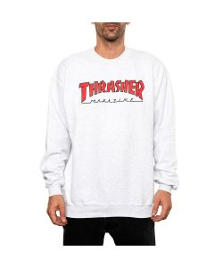 Thrasher Outlined Men's Crew Ash Grey