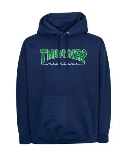 Thrasher Outlined Navy Men's Hoodie