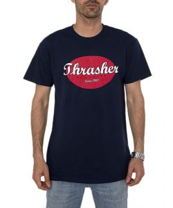 THRASHER OVAL NAVY BLUE T-SHIRT
