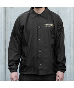 THRASHER PENTAGRAM COACH JACKET BLACK ΜΠΟΥΦΑΝ