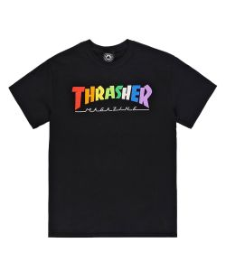 Thrasher Rainbow Mag Black Ανδρικό T-Shirt