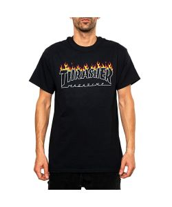 Thrasher Scorched Outline Black Men's T-Shirt
