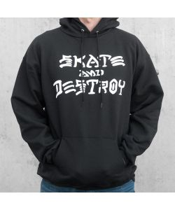 Thrasher Skate And Destroy Black Men's Hoodie