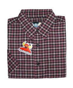 Toy Machine Plaid Button Up Black Men's Shirt