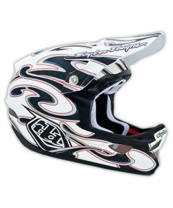 Troy Lee Designs D3 Squirt Matte White Helmet