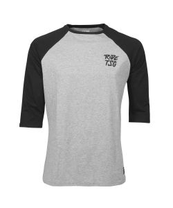 TSG 3/4 T-SHIRT RIPPED RAGLAN HEATHER GREY BLACK