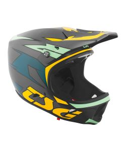 TSG Advance Graphic Design Blue Yellow Helmet