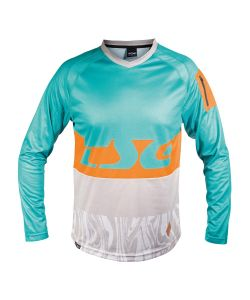 TSG BREEZE JERSEY LS TURQUOISE ACID ORANGE