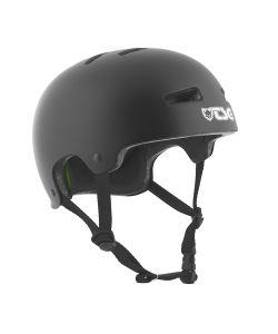 TSG Evolution Asian Fit Solid Color Black Helmet