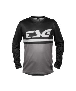 TSG Plain Jersey Black Grey