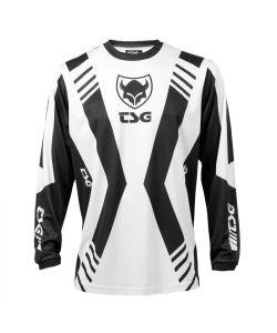TSG RACESHIRT WHITE BLACK CLASSIC JERSEY