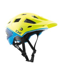 TSG Scope Graphic Design Acid Yellow Blue Helmet