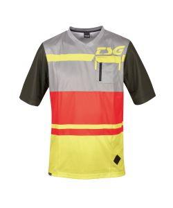 TSG SP5 Jersey Red Lime Yellow