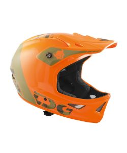 TSG Squad Graphic Design Trap Acid Orange Helmet