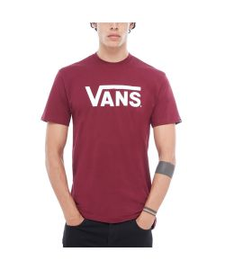 Vans Classic Burgundy White Men's T-Shirt