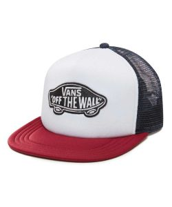 Vans Classic Patch Trucker White/Rhumba Red Hat