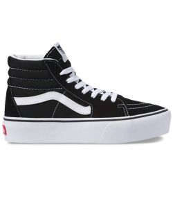 Vans Sk8 Hi Platform 2.0 Black True White Women's Shoes