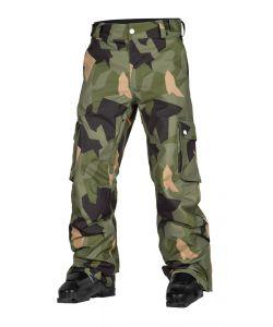 Wearcolour Wear Asymmetric Olive Men's Snow Pants