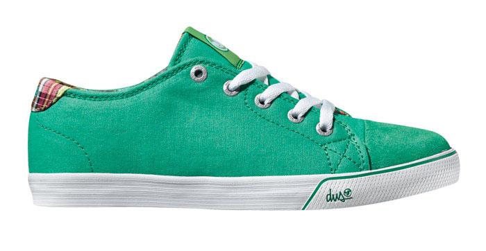 DVS Jax Green Canvas Women's Shoes